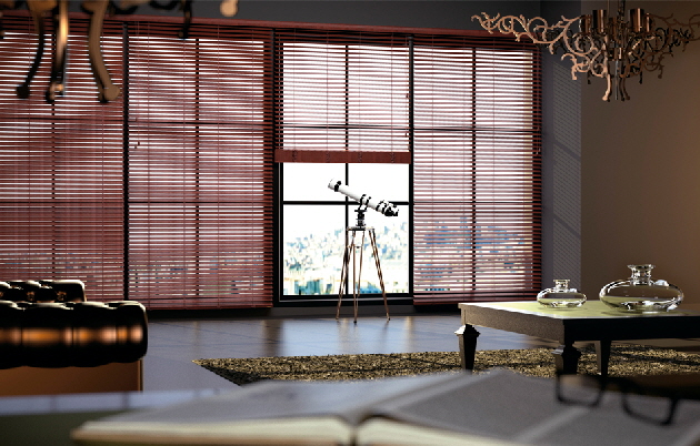 Leather Venetian Blind - Luxmader